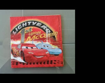 set of 2 napkins mc queen and doc vs
