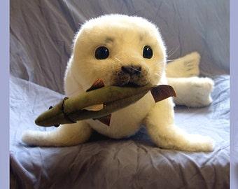 Seehund, Robbe selber nähen ebook 62 Seiten plus Schnittmuster Lebengroßes Seehundbaby