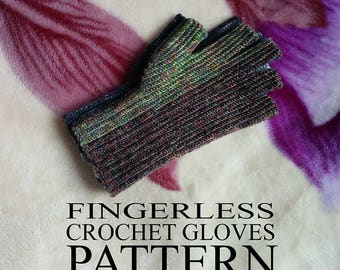 Fingerless Crochet Gloves - Pattern PDF