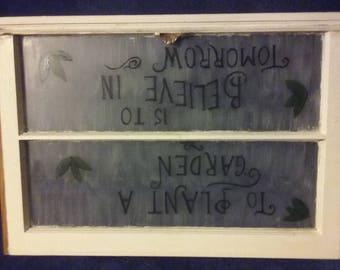 Vintage window sign