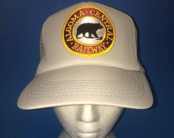 Vintage Algoma Central Railway Trucker SnapBack Hat Adjustable 1980s