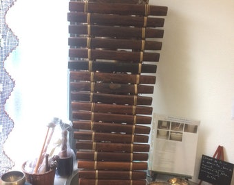 Authentic balafon giant of Guinea Bisau, 112 cm x 45 x 15 high, 21 strips, made by hand, perfect condition, amazing rare and majestic