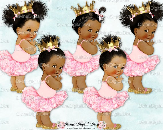 Princess Ballerina Pink Gold Shoes Amp Crown Babies Of Color