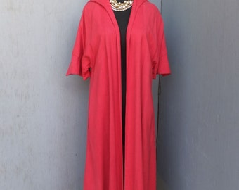 Vintage LILLI DIAMOND Swing Style Dress Coat / Linen Dress Coat