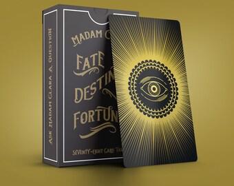 Madam Clara Sees All Fortune Teller Tarot Card Deck 2nd Edition Includes Pouch - great beginner's deck!