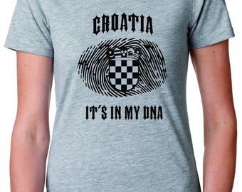 Croatia Its In My DNA Ladies Tee