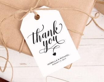 Thank You Tag, Gift Tags, Wedding Thank You Tags, Wedding Favor, Thank You Printable, Favor Tag, DiY Kraft Printable tags, WPC_32
