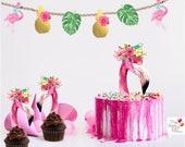 Flamingo silhouette Cake ...