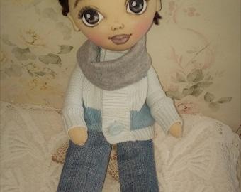 poupée - jouets - poupée d'art - textiles