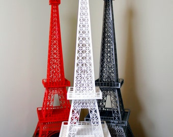 Eiffel Tower architectural acrylic 3D replica of famous Paris landmark hand assembled eye catching model or ornament