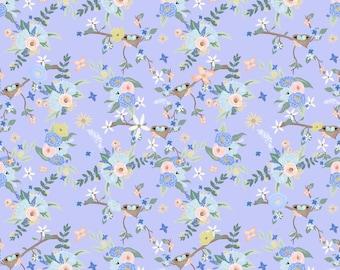 Bey's Garden Blue Floral Patterned Vinyl Vibrant Vinyl™ - Adhesive Vinyl + Heat Transfer Vinyl Heat Transfer Vinyl Sheet, Pattern HTV