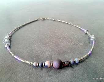 Men stone necklace natural necklace beaded jewelry men jewelry gemstone necklace bohemian necklace ethnic jewelry Bohemian gemstone necklace