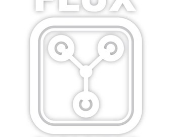 Flux Capacitor Back To The Future Decal Sticker Car Truck Window Laptop Die Cut Vinyl Select Color/Size 51-0001