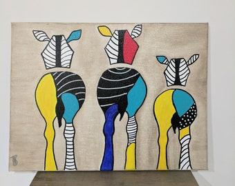 Colourful Zebra's