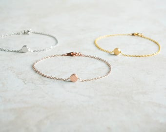 Tiny Dot Bracelet, Rose Gold, Gold, Silver, Dainty, Simple, Wedding Jewelry, Minimalist, Best Friend Gift, Sibling, Petite, Friendship, Mom