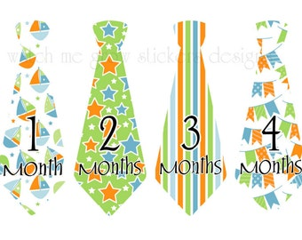 Monthly Stickers Baby Month Stickers Tie Stickers Clearance Sale