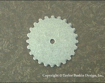Antiqued Sterling Silver Plated Steampunk Gears, Watch and Clock Pieces (item 3000-large AS) - 6 Pieces