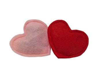 Wool felt catnip toys, Hearts - stuffed with our all-natural homegrown catnip, guaranteed fun!