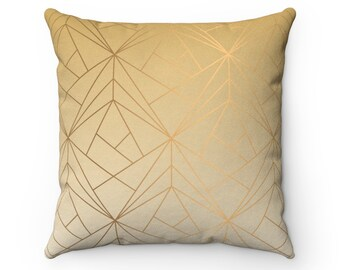 Gold Glam: Faux Suede Pillow