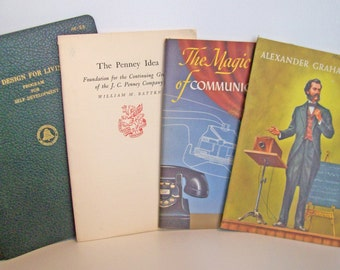 Pacific Telephone Company and J.C.Penney Instructional Booklets. Vintage Business Training Info, Self Improvement Business Plan