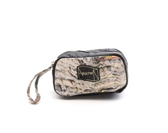 Newspaper Re-cycle-style collection digital print cuboid pouch