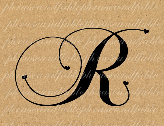 Letter r hearts 288 digital download alphabet initial name thecheapjerseys Gallery