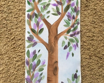 Hand Painted Grow Chart, Personalized, Custom Made, Fabric Banner Growth Chart, #GC 164