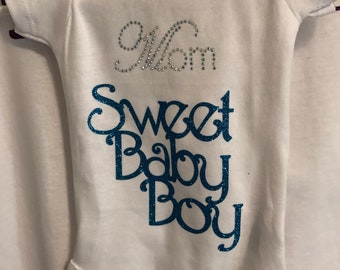 Mom Baby Boy Onesie