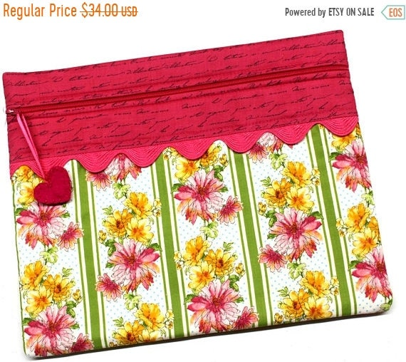 SALE Spring Flowers Cross Stitch Embroidery Project Bag