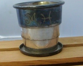 Victorian collapsable cup= monogramed