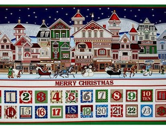 Santa is Coming to Town - Advent Calendar Panel - Quilting Treasures