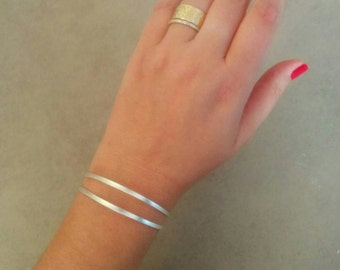 Silver Bracelet, Sterling Silver, Silver Cuff, Strips Braclete, Strips Cuff, Wedding Jewellery, Bridesmaid Gift, Gift For Her