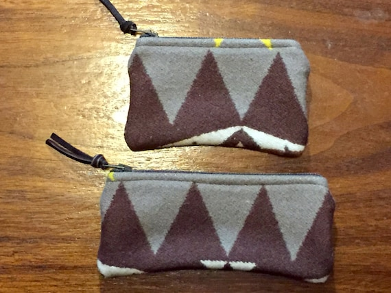 Organizer Set of 2 / Gift Set Wool Earthy Browns and Winter White