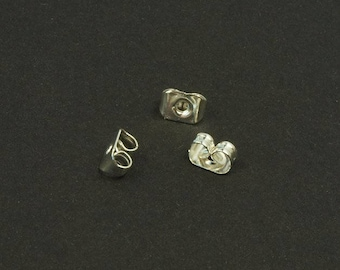 Ohrmutter for studs, stoppers, silver, 5x4 mm butterfly