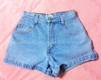 90s ESPRIT Denim Shorts, 90s Vintage ESPRIT Jean Shorts, High Waisted Denim Shorts, 90s Vintage Denim Shorts, Vintage ESPRIT