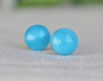 Blue Earrings / Hypoallergenic Earrings / Stainless Steel Earrings / Titanium Earrings