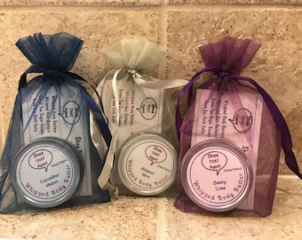 3-pack Whipped Body Butter by Shea THAT Again! ~~ Simply Natural ~~ travel/purse size, 0.75 oz. each