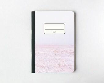 Pages de carnet Haze - pages vierges: Journal - carnet de croquis - - doublé de rose
