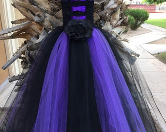 Maleficent Tutu Dress with Horns