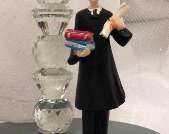 Graduation Boy Figurine Cake Topper or Centerpiece or Favor Keepsake Graduation Gift