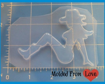 Large  Mud Flap CowGirl  Mold