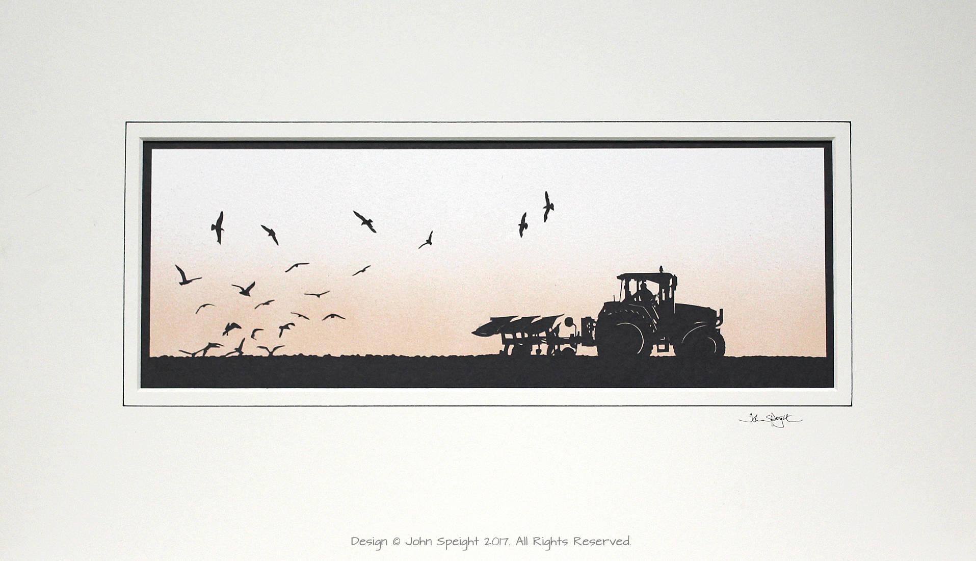 John deere tractor plough and seagulls original signed hand zoom jeuxipadfo Images