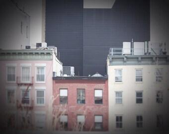 New York City Apartments - 8x10 photograph - Chelsea - fine art print - vintage photography - Manhattan  - New York highline