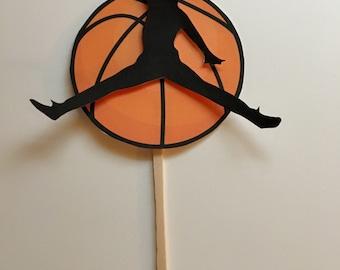 Cupcake Topper, basketball cupcake topper, jumping man cupcake topper, basketball cupcake topper, basketball decor, basketball party, party