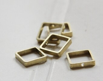10 Pieces / Raw Brass / Brass Base / Bead Frame / Spacer / One Hole (C3287//-F91)
