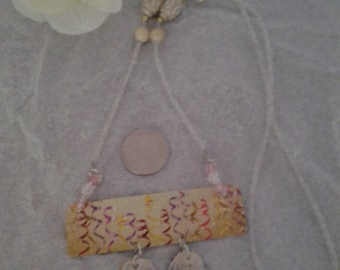 upcycled gift card necklace