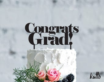 Customizable Graduation cake topper,Congrats Grad Cake Topper,Graduation Decorations,High School Graduation Cake Topper, College Grad Party