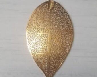 Filigree gold leaf print