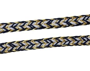 50cm cord braided multicolor 10mm wide
