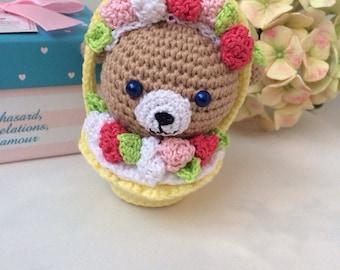Brown bunny Easter rabbit Crochet toy bunny Crochet cupcake Easter baby toy Crochet easter bunny Amigurumi bunny Crochet bunny